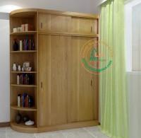Tủ quần áo gỗ sồi  phòng ngủ