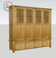 Tủ gỗ sồi 4 cánh